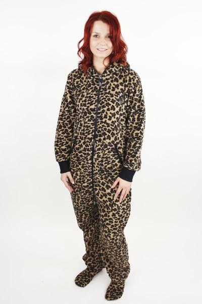 Dámské dupačky pro dospělé se vzorem leopard