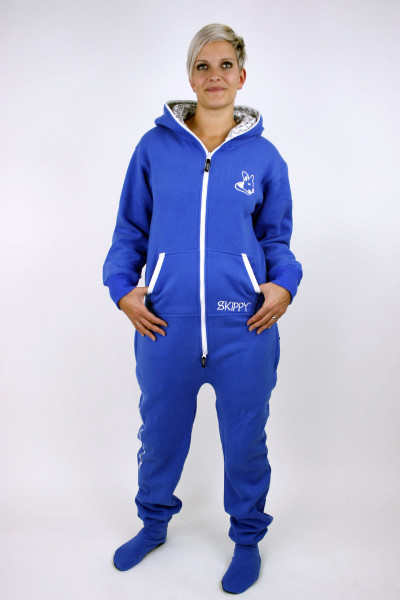 Jednobarevné modré dámské dupačky pro dospělé