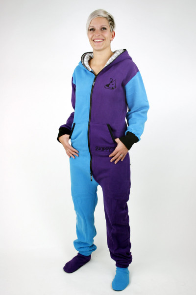 Modro-fialové dámské dupačky pro dospělé