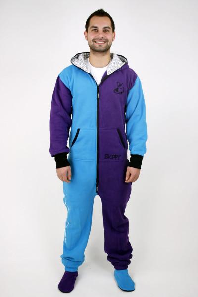 Modro-fialové dospělácké dupačky bavlněné