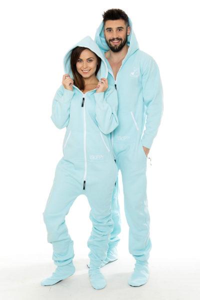 Pastelově modré dupačky pro dospělé