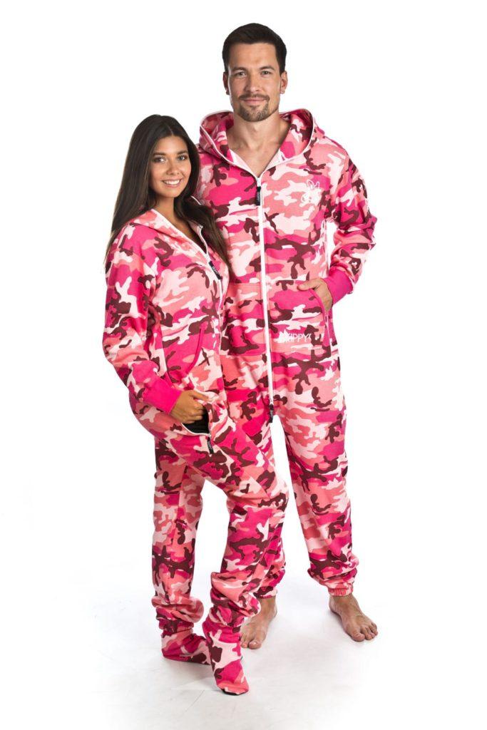 Růžové maskáčové dupačky pro dospělé