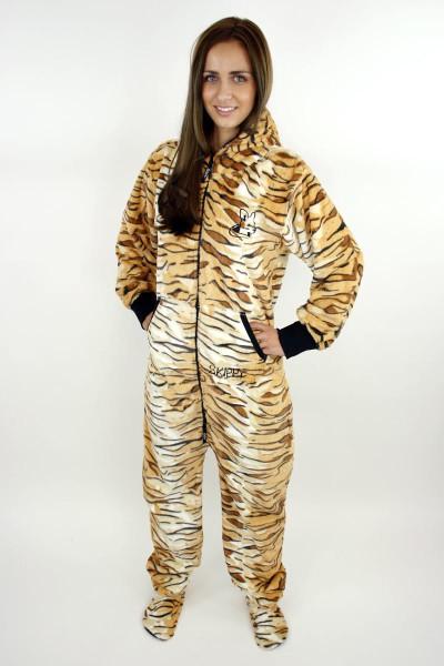 Dámské dupačky pro dospělé se vzorem tygr