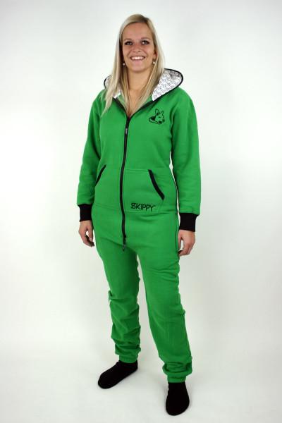 Zelené dámské dupačky pro dospělé - jednobarvené