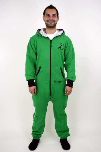 Zelené pánské dupačky pro dospělé - jednobarevné