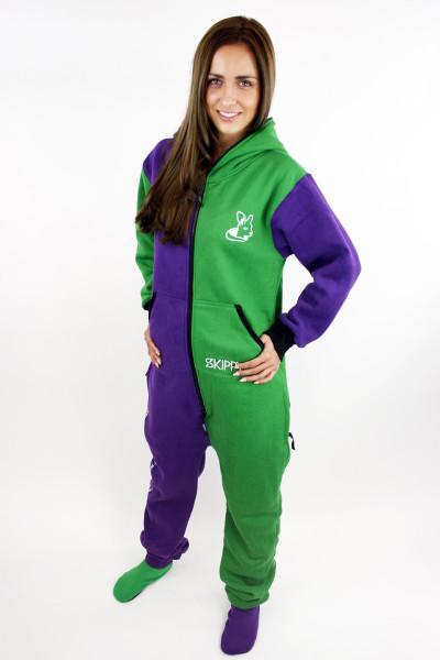Zeleno-fialové dámské dupačky pro dospělé