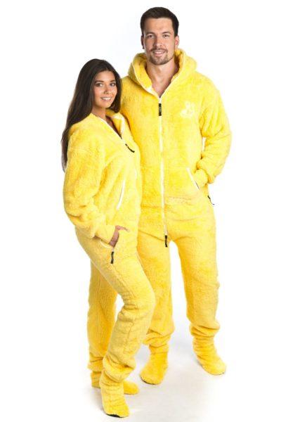 Žluté chlupaté dupačky pro dospělé