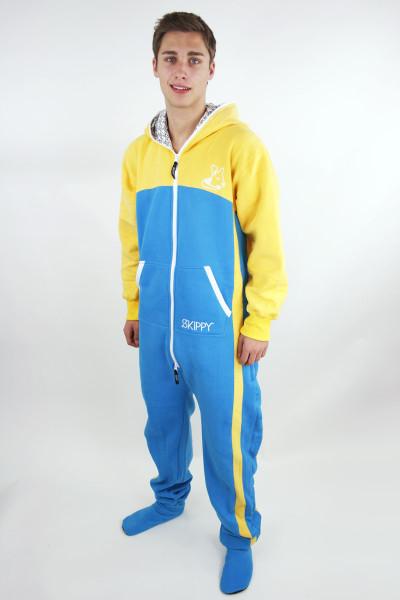 Žluto-modré pánské dupačky pro dospělé