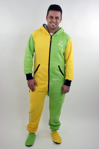 Žluto-zelené pánské dupačky pro dospělé
